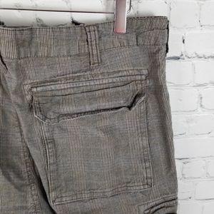 BURTON | plaid buttoned cargo pocket pants